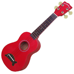 Kala MK-SD/CAR Makala Dolphin Soprano Ukulele in Candy Apple Red Gloss