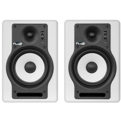 Fluid Audio F5W (Pair) 5-Inch 2 way Studio Reference Monitors - White