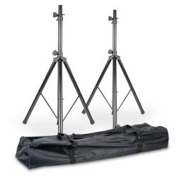 American Audio SPSX28 Aluminum Accu Stand Speaker Stands in a Carry Bag
