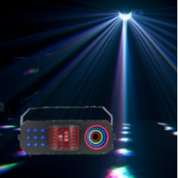 American DJ BOOM-BOX-FX3 StarTec Series 3-in-1 LED Derby, Wash and SMD Lighting Effect- Black