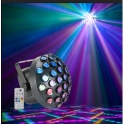 American DJ Contour Startec Contour Mirror Ball Effect with Multicolored Beams (RGB)