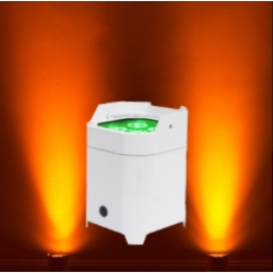 American DJ ELEMENT-HEXIP-PEARL Outdoor Battery-Powered RGBAW+UV LED Par with Wireless DMX-Pearl