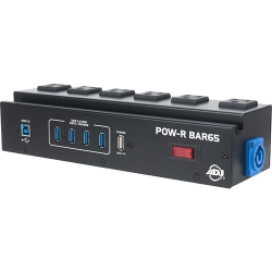 American DJ POW-R-BAR65 Utility Power Block with 6 Surge-Protected AC Power Sockets