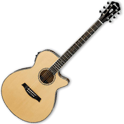 Ibanez AEG10II-NT AEG Series 6 String Electric Acoustic Guitar in Natural High Gloss (discontinued clearance)