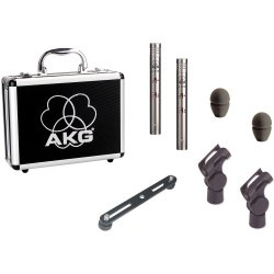 AKG C451 B Matched Pair Small-Diaphragm Condenser Microphone for Drums and small Instruments