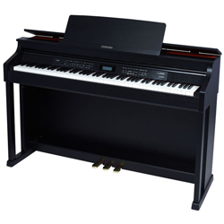 casio ap650bk 88 scaled hammer action celviano upright digital piano with pedals and bench. Black Bedroom Furniture Sets. Home Design Ideas