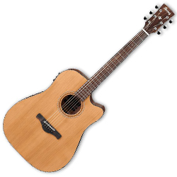 Ibanez AW65ECE-LG Artwood Series 6 String Acoustic Electric Guitar in Natural Low Gloss