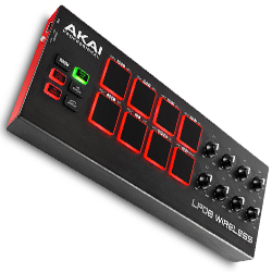 Akai LPD8 WIRELESS Battery-Operated Wireless Bluetooth MIDI Pad Controller