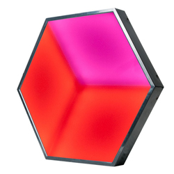 American DJ 3D-VISION Hexagonal Shaped LED Panel with 3D Visual Effects