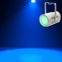 American DJ COB-CANNON-WASH-PEARL RGBA LED Par Can Light with COB Technology in White Casing