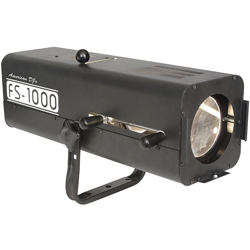 American DJ FS1000-ADJ High Powered Followspot with 575W Halogen Lamp in Extruded Aluminum Casing