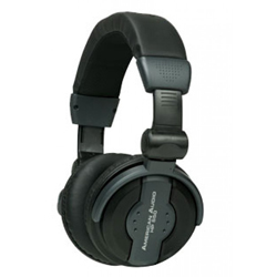 American Audio HP-550-BLACK Comfortable High Powered Headphones in Black