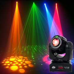 American DJ INNO-POCKET-SPOT-LZR Next Generation Hybrid Mini LED Moving Head with Green Laser