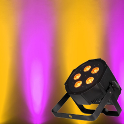 American DJ MEGA-QA-GO Battery Powered LED Par with 5x4W RGBA LEDs