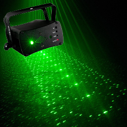 American DJ MICRO-3D-II Rotating 200 Green and Red Laser Beams