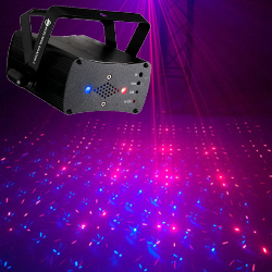 American DJ MICRO-ROYAL-GALAXIAN-II Portable Red and Blue Party Laser Effect