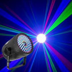 American DJ Rayzer Startec Series 2-In-1 RGB Laser and LED Wash Light