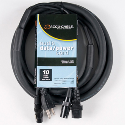 American Audio SKAC10 Audio Data and Power 10 Foot AC/XLR Combo Cable
