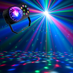 American DJ STINGER-STAR 3-FX-IN-1 LED Moonflower, Color Wash, and Red/Green Laser