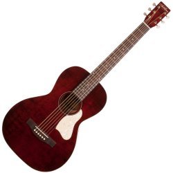 Art & Lutherie 045525 Roadhouse Parlor Acoustic Guitar - Tennessee Red