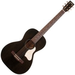 Art & Lutherie 045532 Roadhouse Parlor Acoustic Guitar – Faded Black WITH BAG
