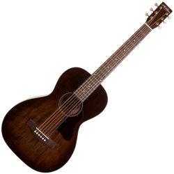 Art & Lutherie 045549 Roadhouse Parlor Acoustic Guitar – Bourbon Burst WITH BAG