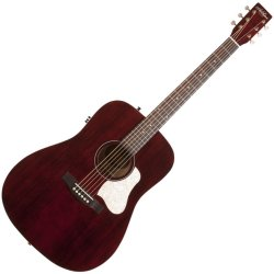 Art & Lutherie 045594 Americana Dreadnought Acoustic-Electric Guitar  - Tennesse Red