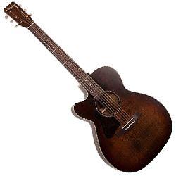 Art & Lutherie 042715 Legacy Left Bourbon Burst CW QIT Left Handed 6 String Acoustic Electric Guitar