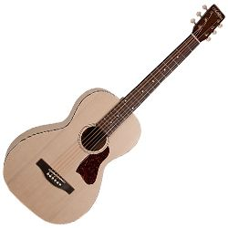 Art & Lutherie 045389 Roadhouse Faded Cream Acoustic Electric Guitar WITH BAG