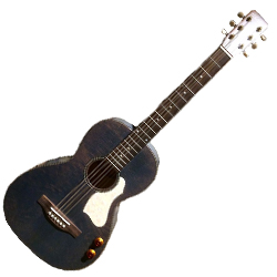 Art & Lutherie 047079 Roadhouse Denim Blue Q-Discrete Acoustic Electric Guitar WITH BAG