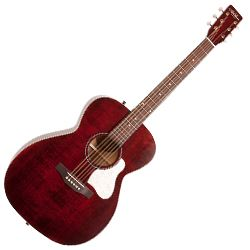 Art & Lutherie 045556 Concert Hall Legacy 6 String RH Acoustic Guitar - Tennessee Red