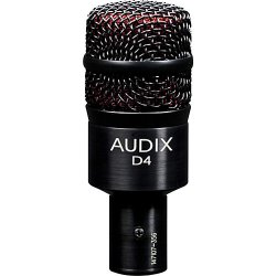 Audix D4 Hypercardioid Low-frequency Microphone for Kick Drum and Toms