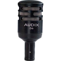 Audix D6 - Dynamic Cardioid Kick Drum Microphone - Black