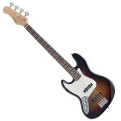 Stagg BB300-LH-SB Left Handed 4 String Electric Jazz Bass Guitar in Sunburst