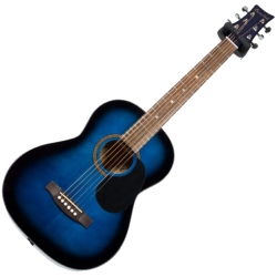 Beaver Creek BCTD601BB 3/4 Size Dreadnought 6 String RH Acoustic Guitar in Blueburst Finish