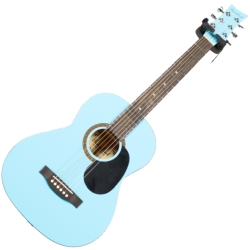 Beaver Creek BCTD601PBL 3/4 Size Dreadnought 6 String RH Acoustic Guitar in Pale Blue Finish