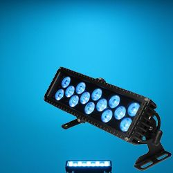 Blizzard MOTIFFRESCO (B) Black Casing Outdoor Rated 14 3W RGB LEDs in Linear Wash Light