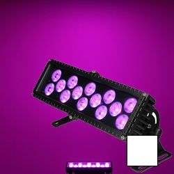 Blizzard MOTIFFRESCO (W) White Casing Outdoor Rated 14 3W RGB LEDs in Linear Wash Light