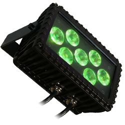 Blizzard MOTIFSKETCH (B) Black Casing Outdoor Rated 7 3W RGB LEDs in Linear Wash