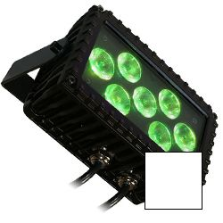 Blizzard MOTIFSKETCH (W) White Casing Outdoor Rated 7 3W RGB LEDs in Linear Wash