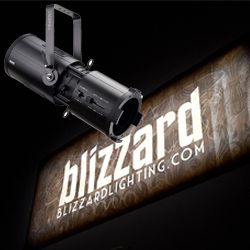 Blizzard OBERON PROFILE WZ (B) Black Casing Wide Zoom 200W COB LED Profile Light