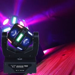 "Blizzard SNAKE EYES MINI ""Fun Sized"" 6 CREE 10W RGBW LED Cube Moving Head Light"