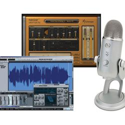 Blue Microphones Yeti Studio Package with Yeti USB Mic and Studio One Artist Software with Izotope Nectar