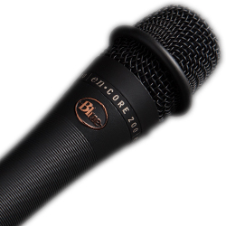 Blue Microphones Encore 200 Phantom Powered Dynamic Handheld Live Performance Mic with Mic Clip and Carrying Bag