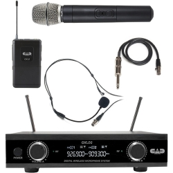 CAD Audio GXLD2HBAH Digital Dual-Channel Wireless Microphone System with Handheld and Bodypack Transmitters (AH: 902.9 to 915.5 MHz)