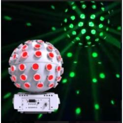 Chauvet DJ ROTOSPHEREQ3-WHT LED Mirror Ball RGBW Simulator Effect-White