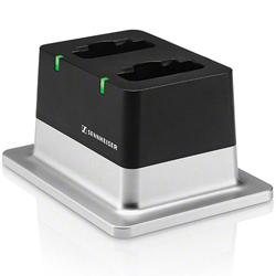 Sennheiser CHG 2 US 2-bay table top charger with US power supply for the evolution wireless D1 series