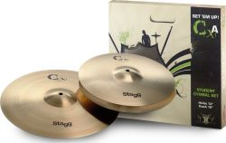Stagg CXA-SET Brass Starter Cymbal Set with 13-Inch Hi-Hats and 16-Inch Crash Cymbal