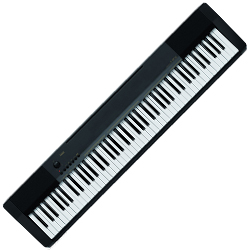 Casio CDP130 88 Key Scaled Hammer Action Portable Keyboard with AC Adapter Piano Stand and Music Stand