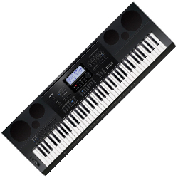 Casio WK7600 76 Key Piano Style Portable Keyboard with AC Adapter